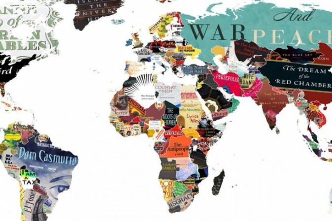 La mappa del mondo in cui ogni paese rappresentato dal - Mappa del mondo contorno ks2 ...